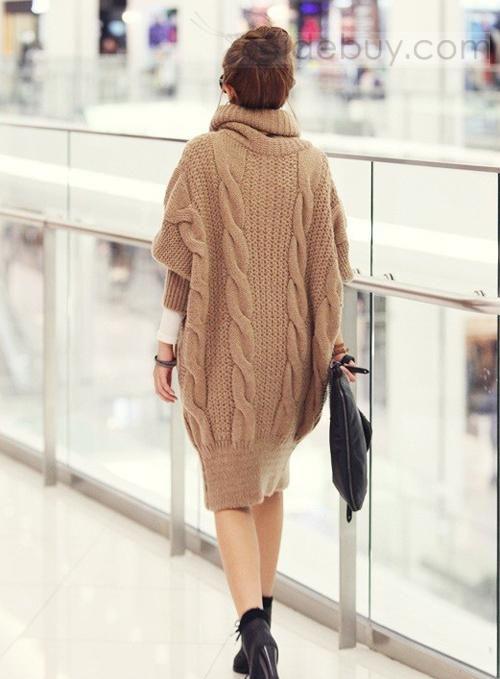 Discount Korean Style Turtle Neck Turtle Collar Long Knitwear : Tidebuy.com