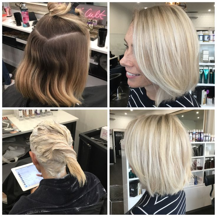 Before And After Scalp Bleach Root Shadow Must Dye