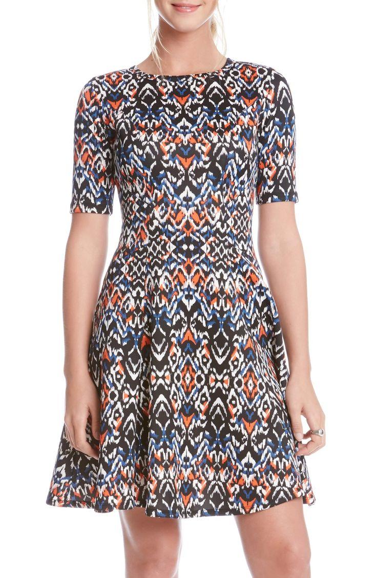 Karen Kane 'Mirage Print' Scuba Dress