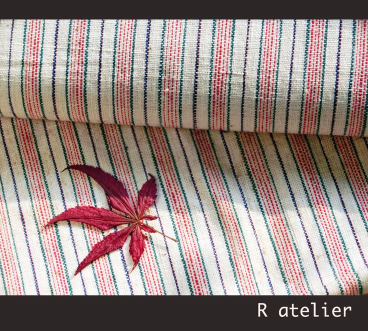$15/yard | Vintage Chinese Fabric | Handwoven Cotton | Fabric By The Yard | Tricolor Stripe 009 #vintagefabrics #handwoven #asianfabric #cottonfabric #crafts #fabriccrafts #craftsupply #craftsupplies