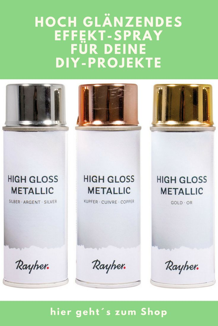 High gloss Metallic Spray Dose  ml silber kupfer gold  Wohndeko