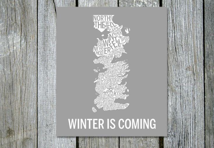 Winter is coming med Starks färger