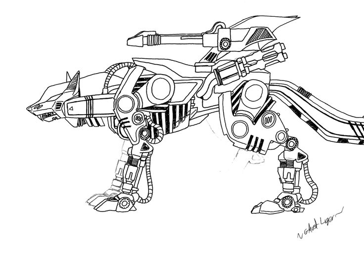 Liger coloring pages ~ 241 best LineArt Zoids images on Pinterest   Anime art ...