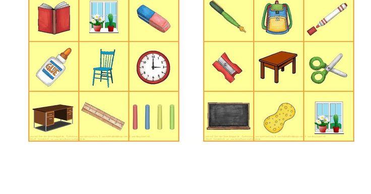 reif für die ferien, bingo, englisch, grundschule, schulsachen, school things, classroom, spiel, kostenloses unterrichtsmaterial