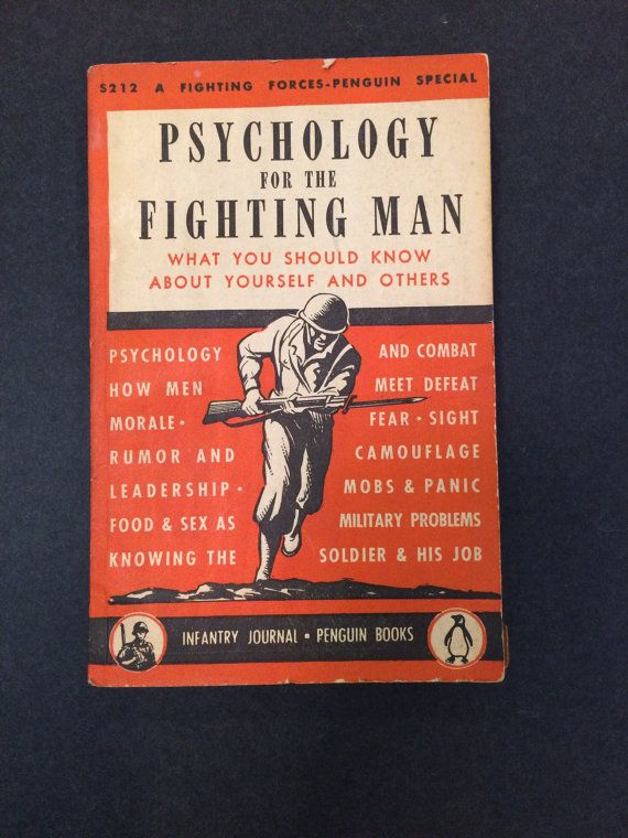 WWII Book  Psychology For The Fighting Man 1944 by SuburbanVintage