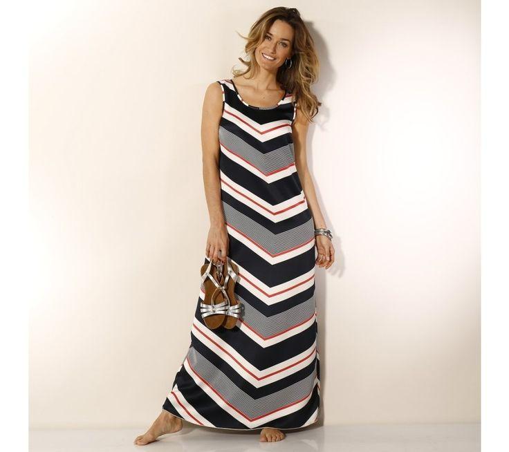 Dlhé pruhované šaty | blancheporte.sk #blancheporte #blancheporteSK #blancheporte_sk #dress #saty