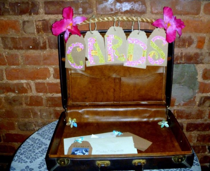 Couples Wedding Shower Gift Ideas: Honeymoon Wedding Shower Gift/Card Suitcase
