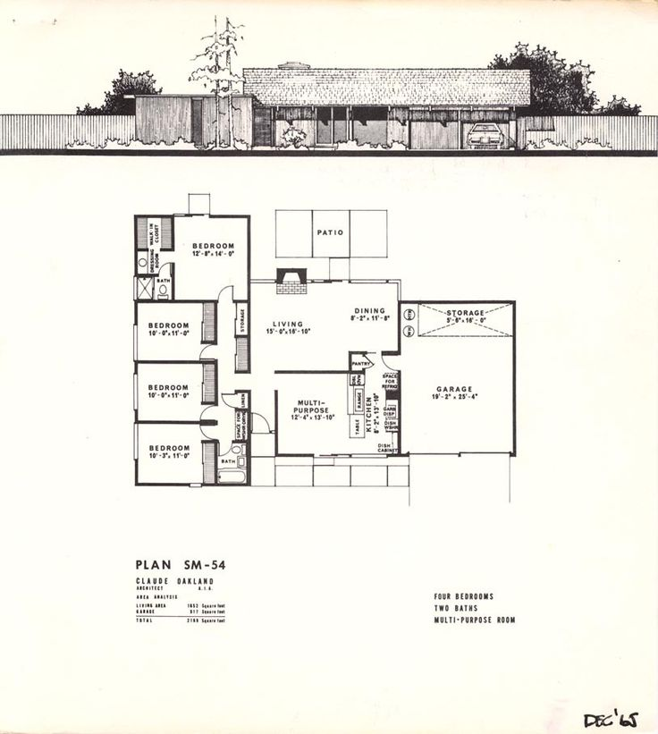 17 Best Images About Eichler Mcm Floorplans On Pinterest