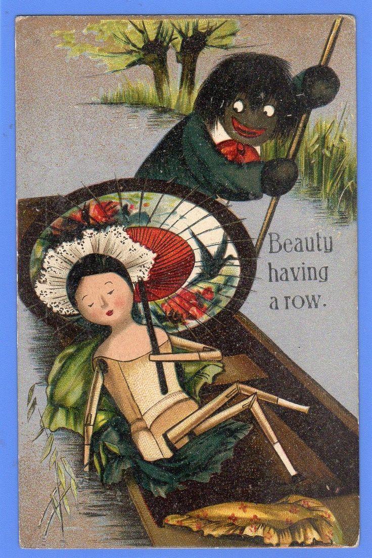 Rare 1906c Wooden Doll Punt Golliwog Golliwogg Golly Florence Upton  Postcard  Ebay