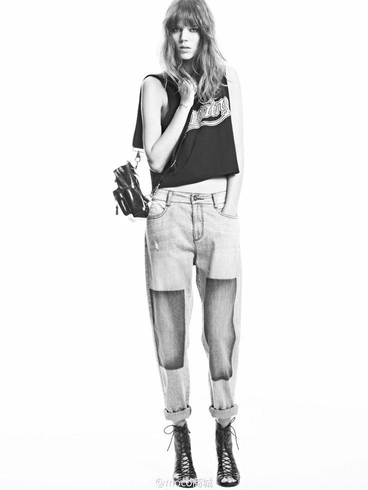 freja beha moco campaign4 Freja Beha Erichsen Returns for MO&Co. Spring/Summer 2014 Campaign