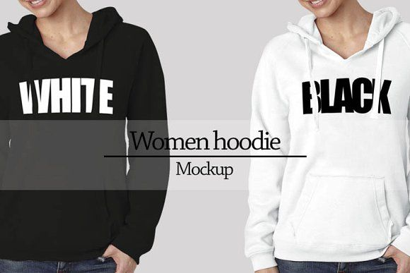 Women hoodie mockup Vr2 by Gumacreative on @creativemarket