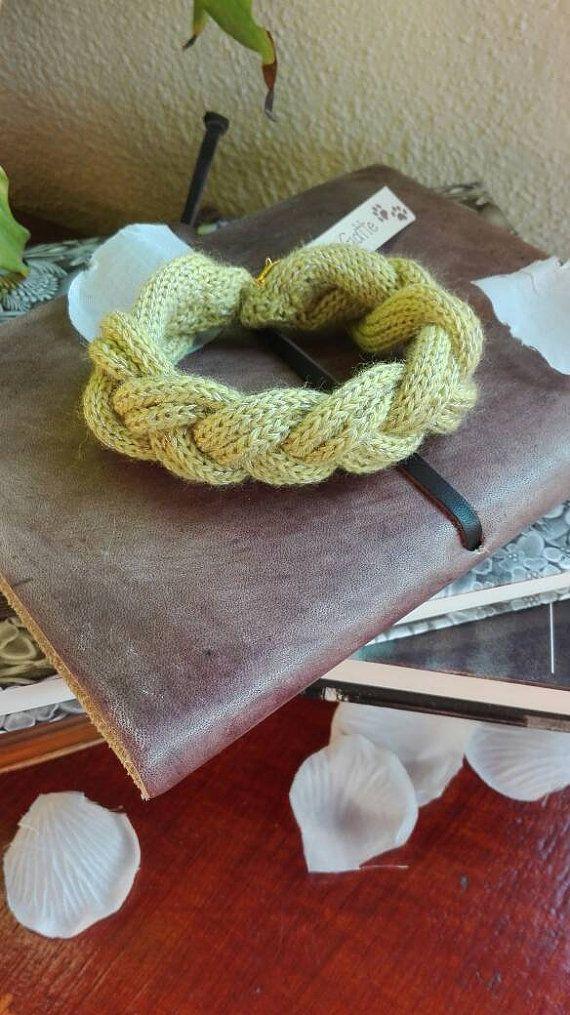 Guarda questo articolo nel mio negozio Etsy https://www.etsy.com/it/listing/491057316/bracciale-in-maglia-rasata-tricot