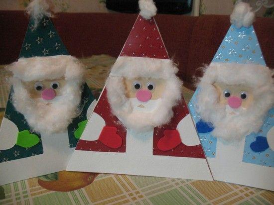 закрашиваем открытка к новому году дед мороз своими руками этого