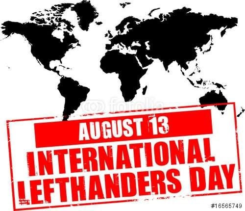 Happy International Left Handers Day 2016 Picture