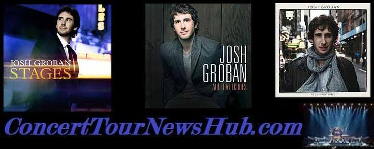 Josh Groban 2015 North American Stages Tour Schedule @joshgroban #MusicNews 2015 #TourSchedule