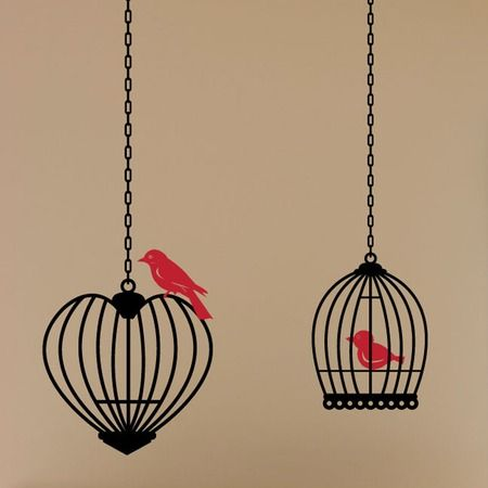 Birds & Cages Wall Decals.