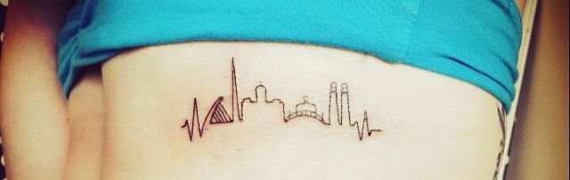 I saw this ages ago and love it. Dublin skyline tattoo.