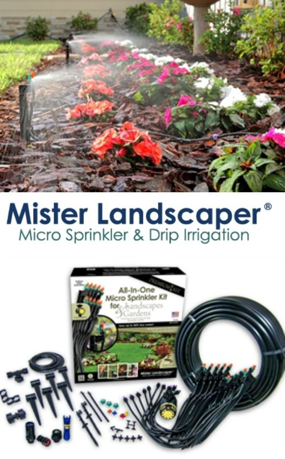 Garden irrigation with Mister Landscaper All in One Micro Sprinkler Kit | Made in USA