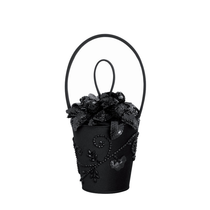 Black Medium Victorian Picnic Basket,  by Lulu Guinness.   Gorgeous!!