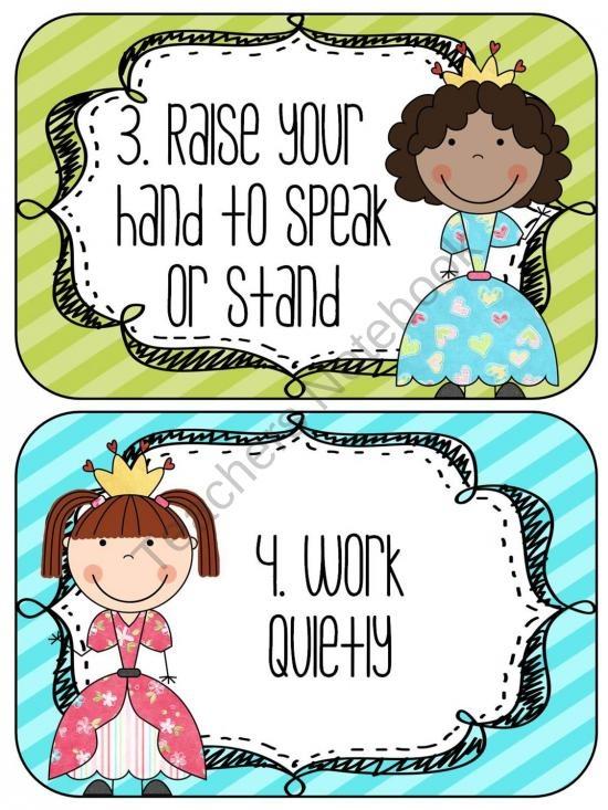 Editable Class Rules- Fairy Tale Theme