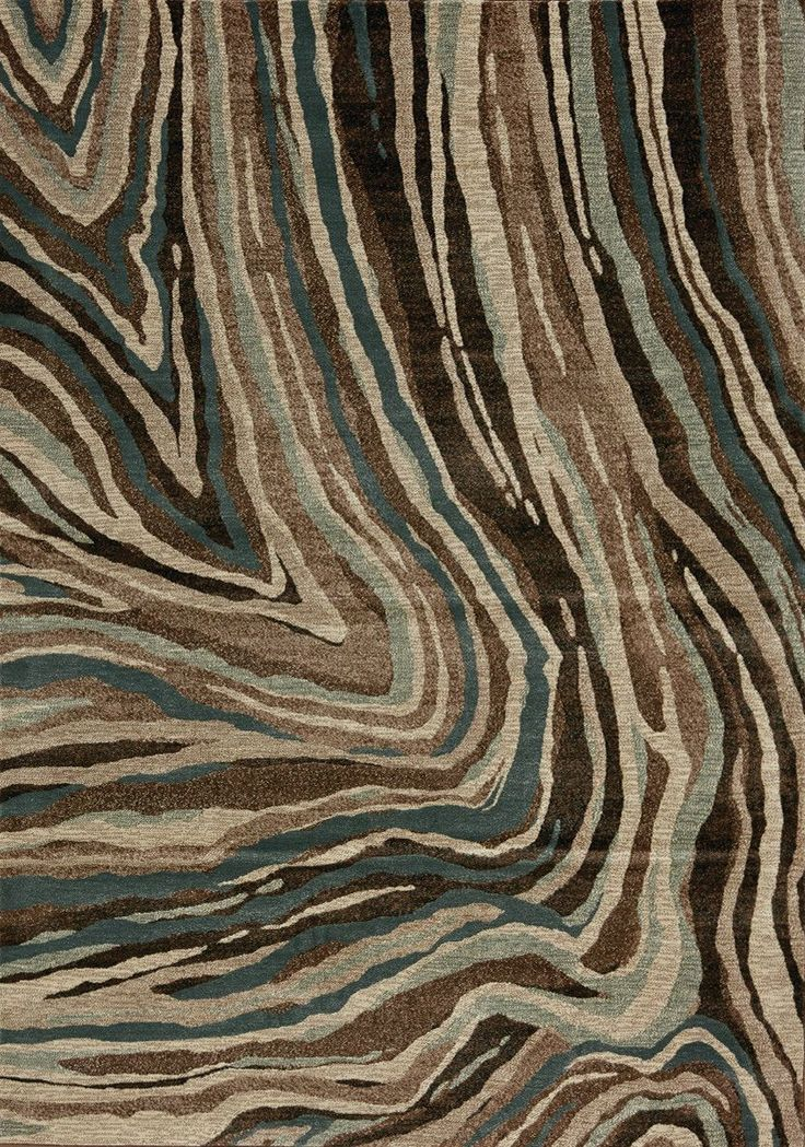 Cozumel Wave Brown/Blue Area Rug