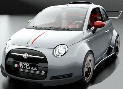 Fiat 550 Italia con motore V8 Ferrari