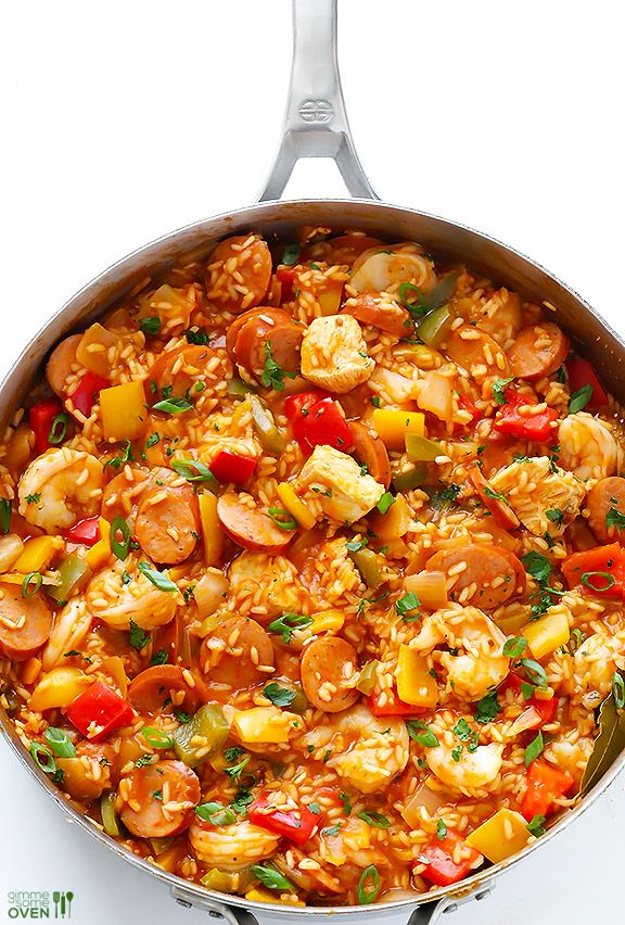 This easy jambalaya recipe is SO good, and so simple to make homemade. Recipe and step by step photos included.