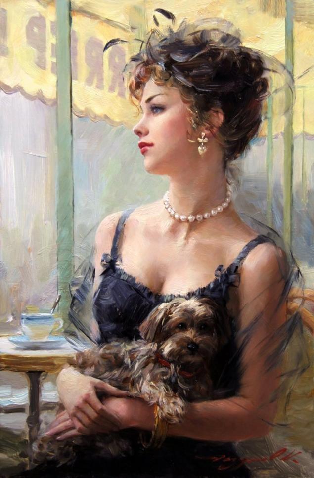 Прекрасные девочки и женщины в картинах Константина Разумова. Часть 2 - Ярмарка Мастеров - ручная работа, handmade