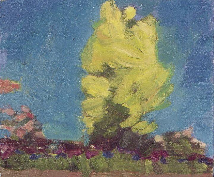 Yellow Tree, Oil on canvas, 2001