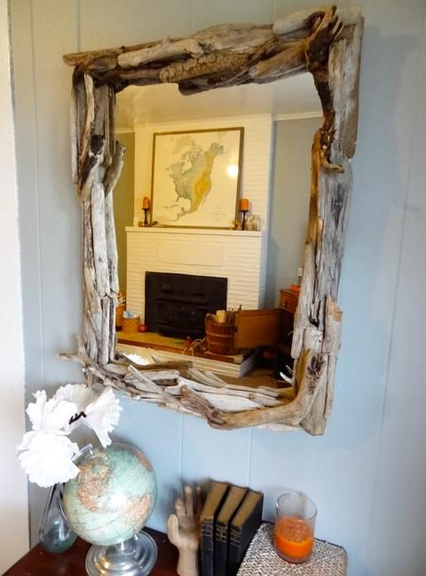 DIY Mirror: DIY Driftwood Mirror : DIY Home Decor