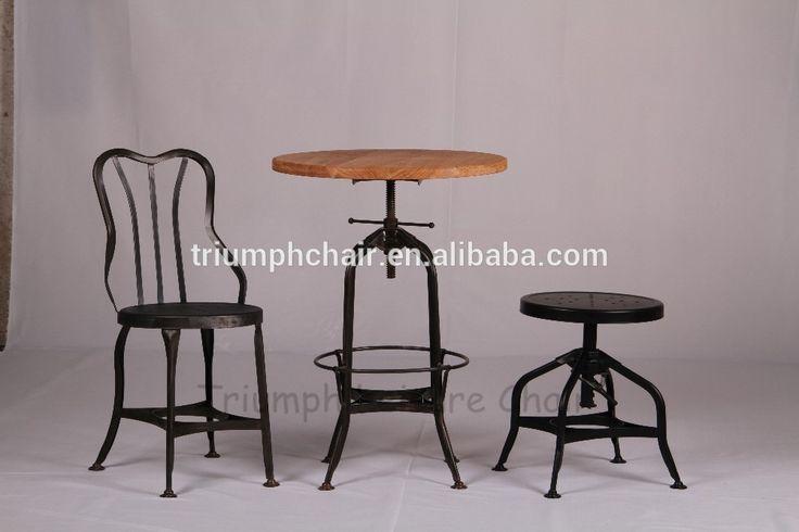 silla toledo antigua | Triomf antieke houten bar tafel/hoogte verstelbare houten cafe tafel ...