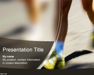 Free Marathon PowerPoint Template for sports presentations