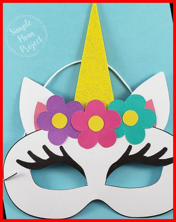 Unicorn Face Masks With Free Printable Templates In 2020 Diy Halloween Costumes Easy Diy Costumes Halloween Diy