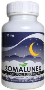 SomaLunex 100mg: Extra Strength Sleeping Pills w/Melatonin, L-Tryptophan, Chamomile, Valerian, & St Johns Wort - Timed Release Tablets by MetaHerbal Labs. $19.95. MAXIMUM STRENGTH timed release tablets that help you fall asleep fast and stay sleeping throughout the night. Studies show that lack of sleep can lead to serious health consequences and jeopardize your safety and the safety of individuals around you.. 90 day money back guarantee if not 100% satisfied!. Proudly ...