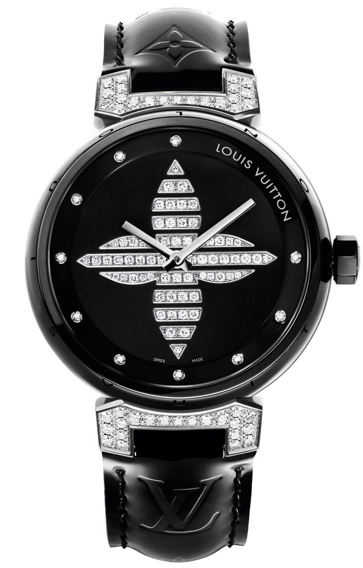 Tambour Forever Ceramic Black LOUIS VUITTON watch