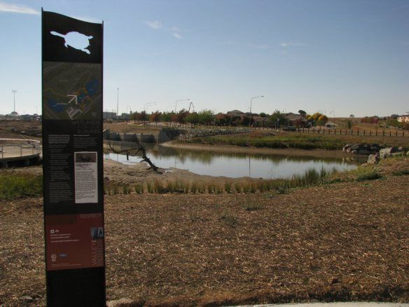 Signage at Gungahlin Wetlands, ACT