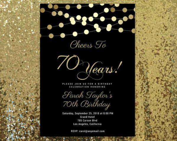 70th Birthday Invitation Templates Best Of 14 70th Birthday Invitation Card T 70th Birthday Invitations 60th Birthday Invitations Surprise Birthday Invitations