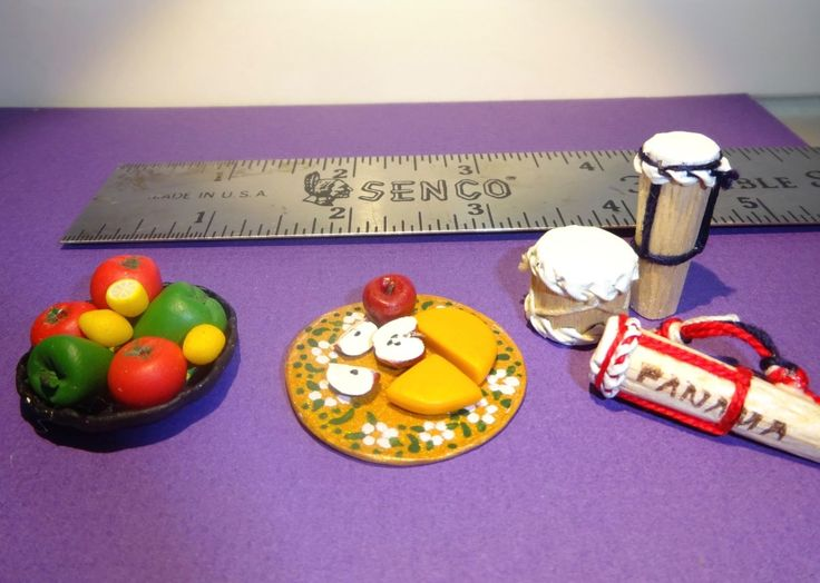 South of the Boarder Clay Food Bongo Drums 1:12 by Jackie Ann's Miniatures #M117   eBay