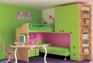 cama infantil compacta (niña) CS10 moretticompact