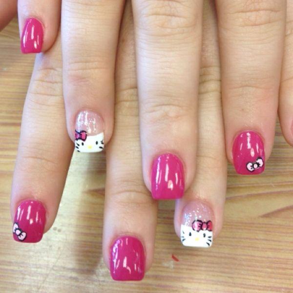 Hello Kitty Nails! erinnxo