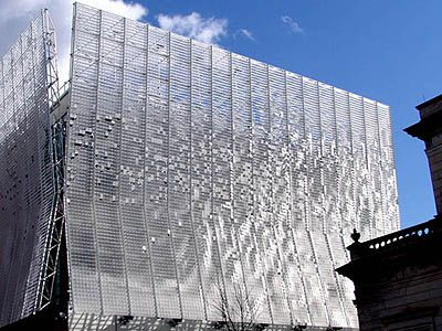"""Ned Kahn's """"Articulated Cloud"""" facade of the Pittsburgh Children's Museum"""