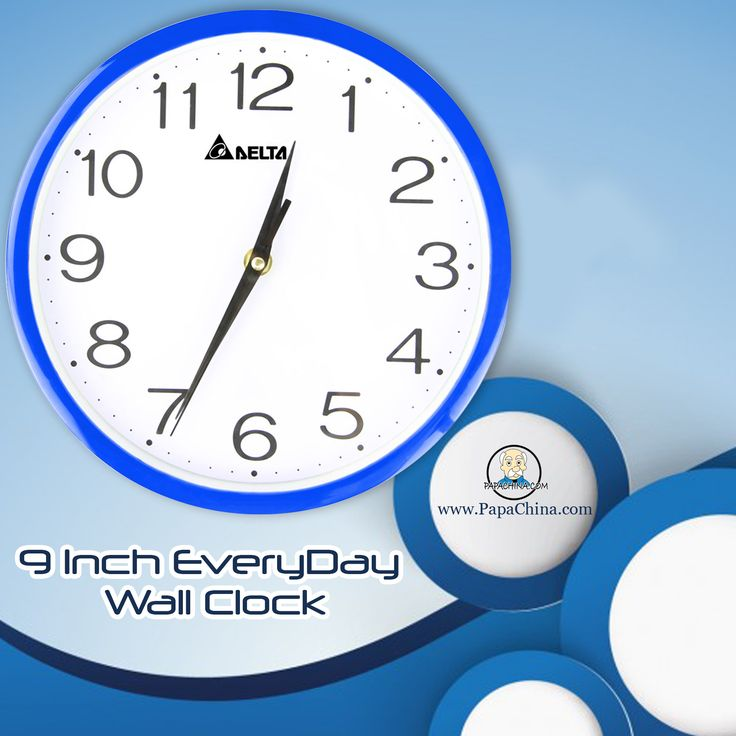 The 9 Inch EveryDay Wall Clock is very well crafted with the help of rigor and great quality parts along with its awesome body parts which will make your customer beneficial with thereby promoting your company name in the market.