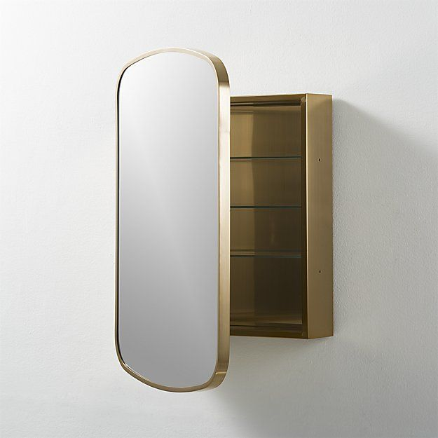 Make full use of your bathroom space by building a sleek storage cabinet that also doubles as a full-length mirror. #kitchencabinetmanufacturers