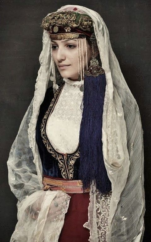 Traditional festive costume from the Olti/Oltu region (now in Northeastern Turkey). Armenian, late 19th century.