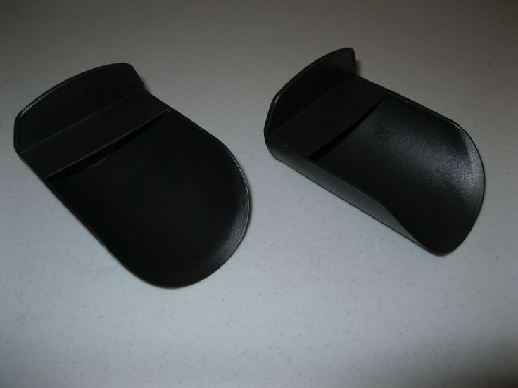TUPPERWARE SET OF 2 ROCKER SCOOPS for canisters or Modular Mates ~ BLACK ~ NEW!