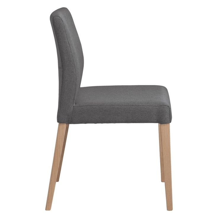 ELODI Grey upholstered dining chair with oak legs | Buy now at Habitat UK