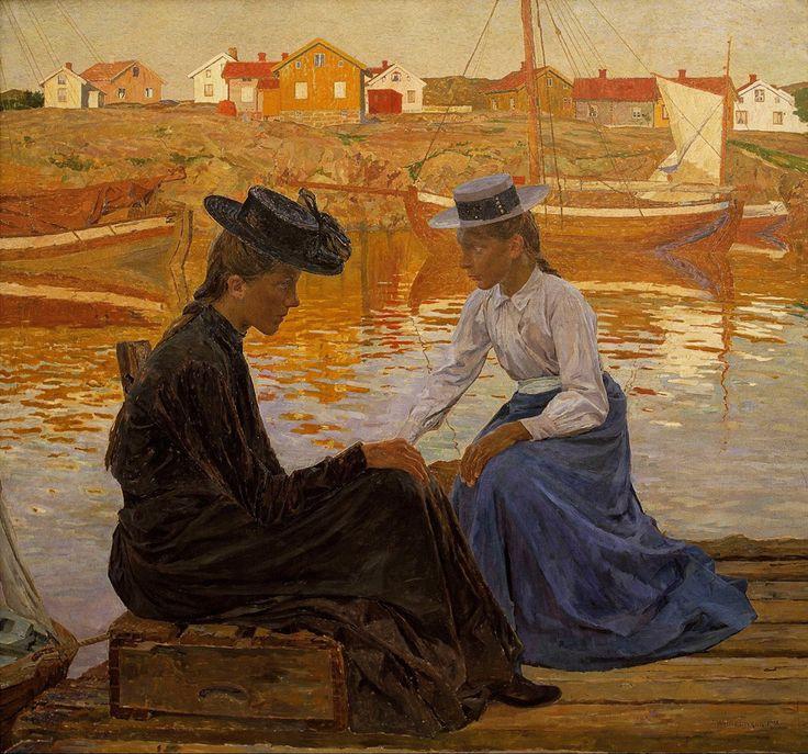 Живопись маслом.  Carl Wilhelmson (1866-1928), La Baie - 1901