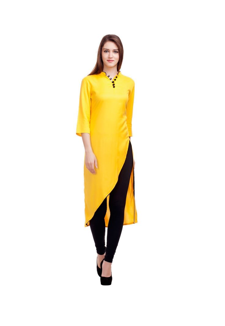 Shop Designer Casual Wear Yellow Cotton Kurti by Fashionuma online. Largest collection of Latest Kurtis and Tunics online. ✻ 100% Genuine Products ✻ Easy Returns ✻ Timely Delivery