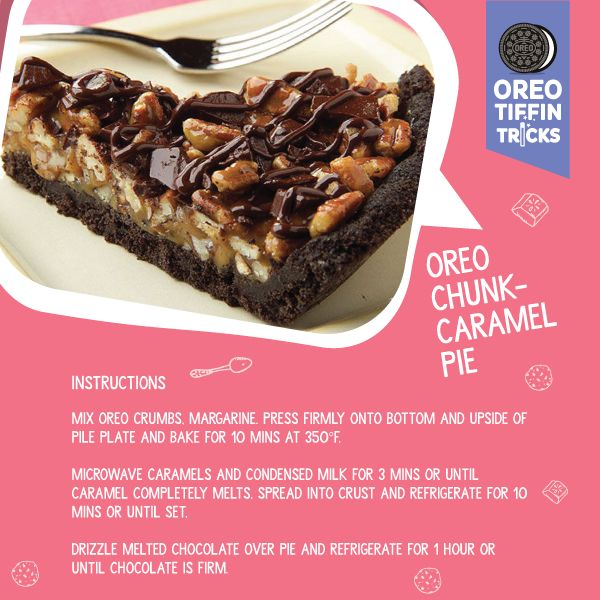 Oreo mixed with caramel into an awesome pie! More awesome recipes at bit.ly/1XG5Xxd #OreoTiffinTricks