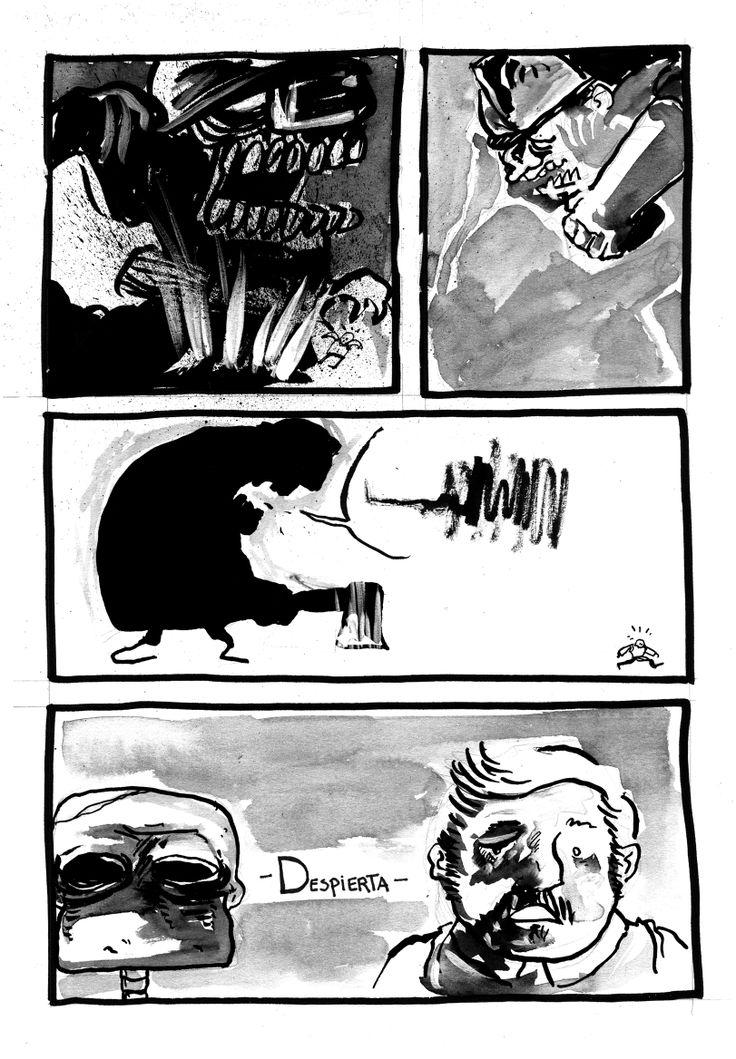 Cómic realizado en el evento DIBUJA O MUERE, versión chilena de 24 hours comic day